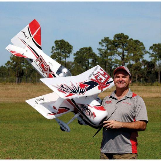 Premier Aircraft by Quique Somenzini Mamba 60 E+ PNP Rosso/Nero + Gyro Aura 8 Aeromodello acrobatico