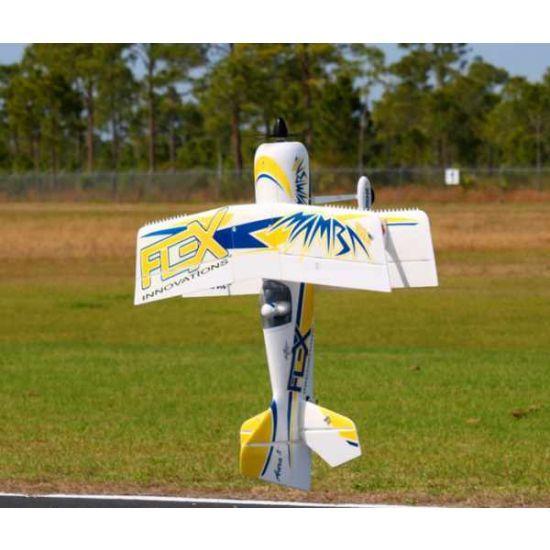 Premier Aircraft by Quique Somenzini Mamba 60 E+ PNP Giallo/Blu + Gyro Aura 8 Aeromodello acrobatico