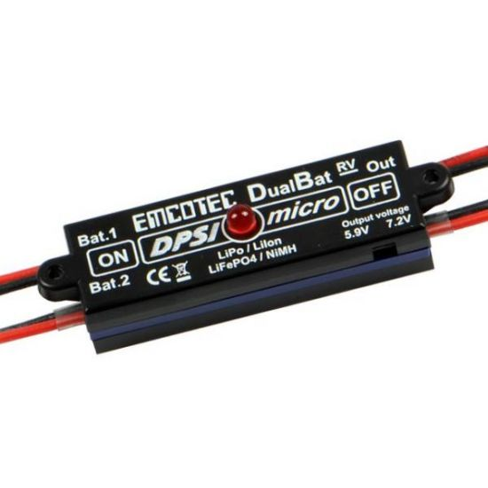 Emcotec DPSI Micro DualBat 5.9V/7.2V JR - dual power supply