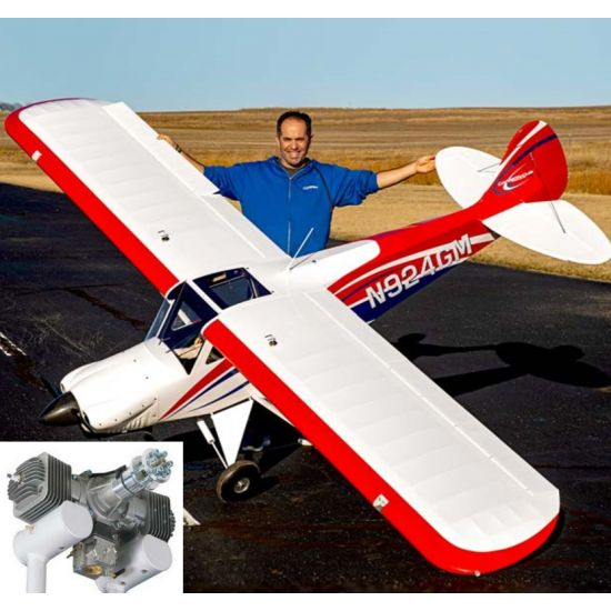 HANGAR 9 Carbon Cub FX-3 100-200cc ARF 420cm Aeromodello riproduzione + DLE 170
