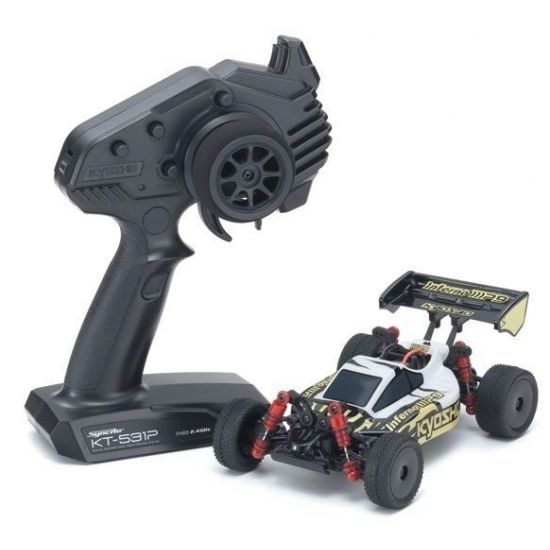 Kyosho Mini-Z MB010 Inferno MP9 TKI3 4WD 1/24 BIANCO/NERO - READYSET