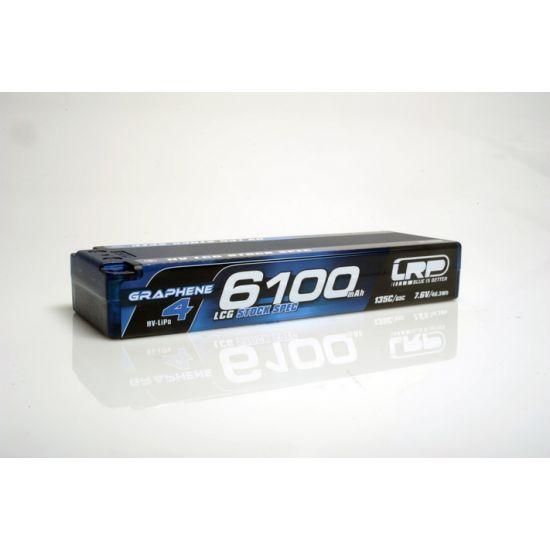 LRP Batteria Lipo GRAPHENE-4 2S 6100mAh 7.6V High Voltage 65/135C HardCase