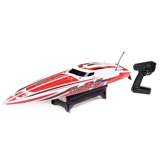 ProBoat Impulse 32 6S Brushless White/Red RTR Barca elettrica