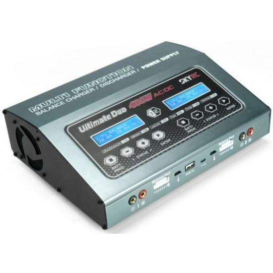 SkyRC D400 400+200W 12/220V 1-7S Caricabatterie