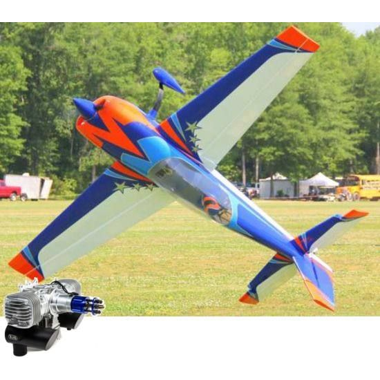 Extreme Flight Extra 300 V2 104 Arancio/Blu ARF - 264 cm + DLE 130 Aeromodello acrobatico