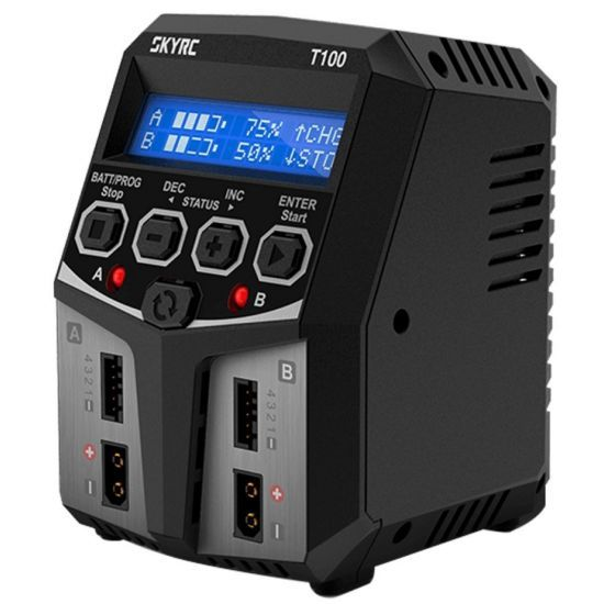 SkyRC T100 220V 2x50W 2-4S Caricabatterie
