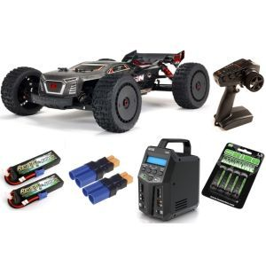 Arrma TALION 1/8 4WD EXB EXtreme Bash Roller Speed Truggy RTR SUPER COMBO
