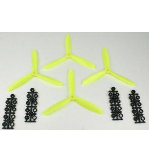 aXes eliche tripala 6x4,5 (standard+inversa) gialle - 4 pz