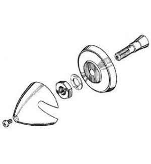 MP JET Ogiva alluminio 40 mm asse Ø 3