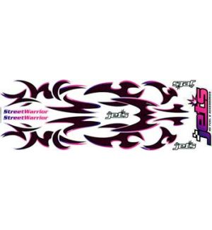 Jets Decals STREET WARRIOR - PINK CARBON