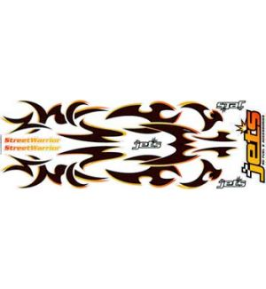 Jets Decals STREET WARRIOR - ORANGE CARBON
