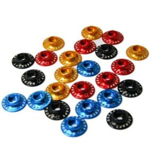 Secraft Rondelle coniche per testa cilindrica 4,5x15mm ROSSE - 6 pz