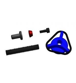 Secraft Dadi a mano V2 M6 (2 pz) per fissaggio ali - BLU
