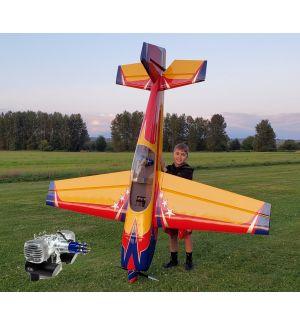 Extreme Flight Extra 300 V2 104 Rosso/Giallo/Blu 264 cm + DLE 130 - Aeromodello acrobatico