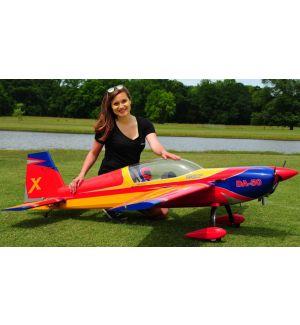 Extreme Flight Extra 300 85 Rosso/Giallo/Blu ARF - 216 cm Aeromodello acrobatico