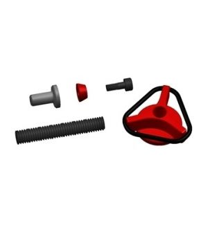 Secraft Wing bolts M6 - V2 (Al screw-Lock Type) RED