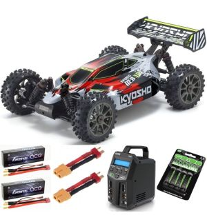 Kyosho Inferno Neo 3.0VE 1:8 RC Brushless EP Readyset - T2 Rossa Automodello elettrico SUPER COMBO