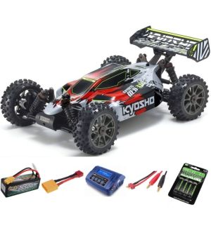 Kyosho Inferno Neo 3.0VE 1:8 RC Brushless EP Readyset - T2 Rossa Automodello elettrico SUPER COMBO 4S