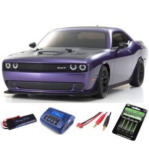 Kyosho Fazer MK2 Dodge Challenger SRT DEMON 1:10 Readyset Automodello elettrico SUPER COMBO