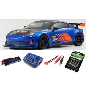 Kyosho Fazer MK2 Alpine GT4 1:10 Readyset Automodello elettrico SUPER COMBO