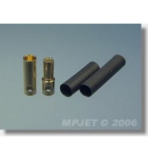MP JET 2 coppie spinotti dorati 5,5 mm (<200A)