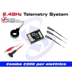 Hitec HTS-SS Blue C200 Combo (per modelli elettrici)