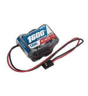 LRP XTEC Batteria RX 1600 mA NiMh 6V a PIRAMIDE spina JR