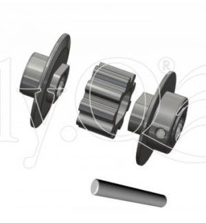 ElyQ EQ10362 - Vision 50 Competition - Puleggia di coda in metallo