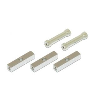 Gaui GUH 208400 X5 - Alu square post with 3 mm middle hole (5x5x23.5mm) and round post (3x4.8x23mm)