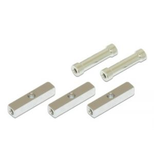Gaui GUH 208402 X5 - Alu square post with 3mm thread hole (5x5x23.5mm) and round post (3x4.8x23mm)