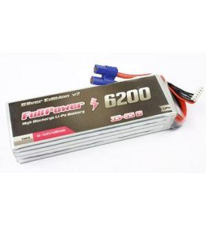 FullPower Batteria Lipo 6S 6200 mAh 35C Silver V2 - EC5