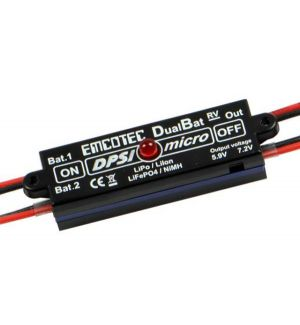 Emcotec DPSI Micro DualBat 5.9V/7.2V JR - dual power supply