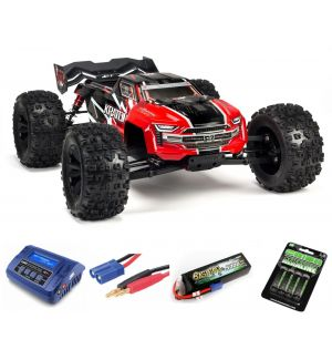 Arrma KRATON 6S V5 4WD BLX 1/8 Speed Monster Truck RTR Red SUPER COMBO 4S