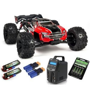 Arrma KRATON 6S V5 4WD BLX 1/8 Speed Monster Truck RTR Red SUPER COMBO 6S