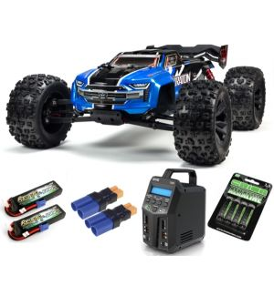 Arrma KRATON 6S BLX Brushless Monster Truck 4WD RTR 1/8, Blue/Black SUPER COMBO 6S