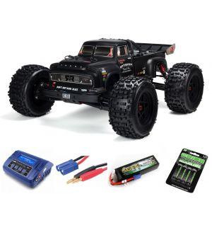 Arrma NOTORIOUS™ 6S BLX 1/8 StuntTruck 4WD RTR V5 Black SUPER COMBO 4S