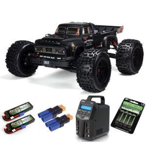 Arrma NOTORIOUS™ 6S BLX 1/8 StuntTruck 4WD RTR V5 Black SUPER COMBO 6S