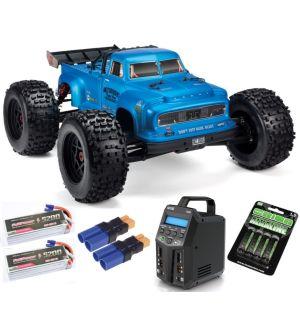 Arrma NOTORIOUS™ 6S BLX 1/8 StuntTruck 4WD RTR V5 Blu SUPER COMBO 6S FP