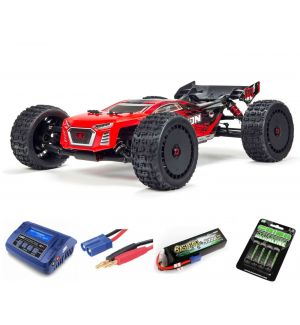 Arrma TALION 6S BLX Brushless Truggy 4WD RTR 1/8, Red Black SUPER COMBO 4S