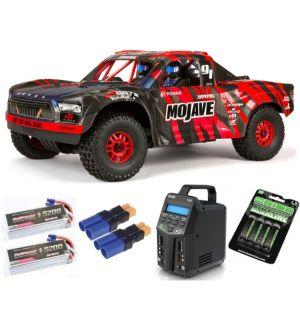 Arrma MOJAVE™ 6S V2 BLX 1/7 Brushless 4WD Desert Truck RTR Red/Black SUPER COMBO 6S FP