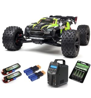 Arrma Kraton 1/5 4X4 8S BLX Brushless Speed Monster Truck RTR, Verde COMBO