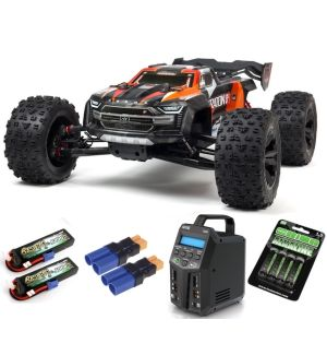 Arrma Kraton 1/5 4X4 8S BLX Brushless Speed Monster Truck RTR, Arancio SUPER COMBO