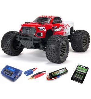 Arrma Granite V3 4X4 3S BLX Monster Truck RTR - Rossa SUPER COMBO