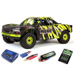 Arrma MOJAVE™ 6S V2 BLX 1/7 Brushless 4WD Desert Truck RTR Green/Black SUPER COMBO 4S