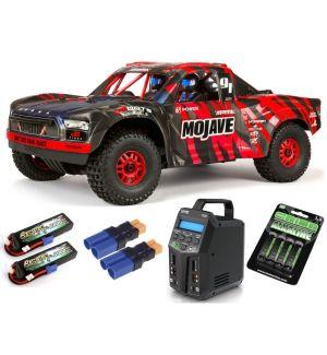 Arrma MOJAVE™ 6S V2 BLX 1/7 Brushless 4WD Desert Truck RTR Red/Black SUPER COMBO 6S