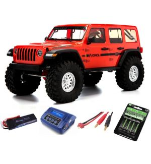 Axial SCX10 III Jeep JLU Wrangler 1/10 with Portals RTR, Orange SUPER COMBO