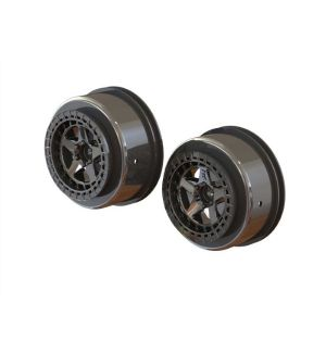 Arrma Cerchi SC 2.2/3.0 esagono 14mm neri (2 pz) - ARA510098