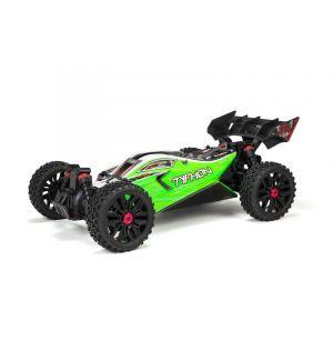 Arrma Typhon Mega 550 V3 Brushed 4WD 1/8 Speed Buggy RTR, Green