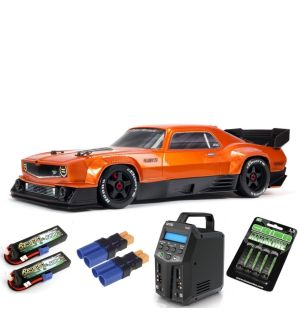 Arrma FELONY 1/7 6S BLX Street Bash All-Road Muscle Car RTR, Orange SUPER COMBO 6S