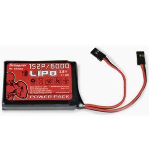 Graupner batteria Lipo HV 1s 6000 mAh per TX HoTT